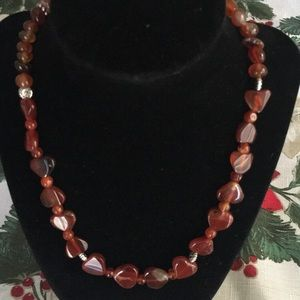 Red/brown/amber Handmade Necklace